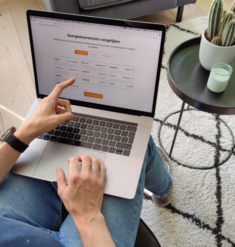 Welke energieleverancier vergelijken op je laptop