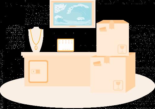 Illustratie voorbeelden inboedel huis