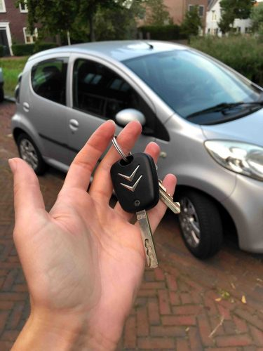 Sleutel van private lease auto